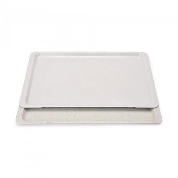 GN-Tablett - Serie 9605 - Polyester - grau - Stapelnocken