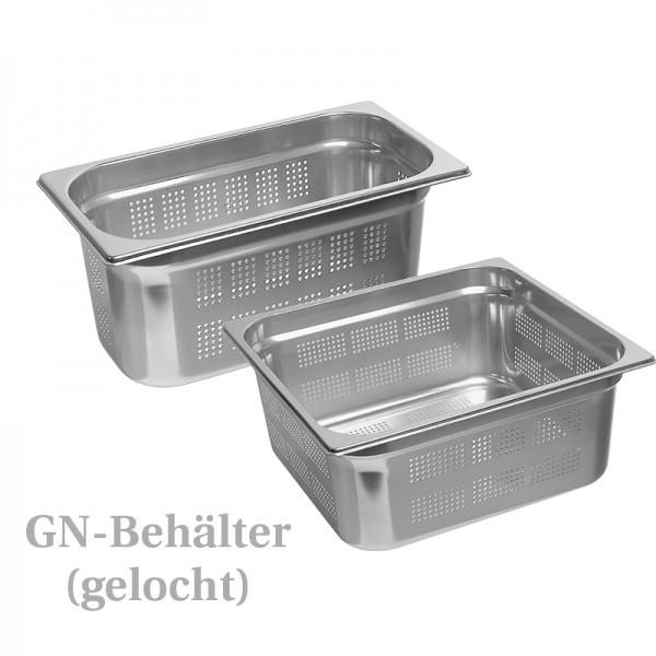 GN-Behälter - Edelstahl - mit Lochung
