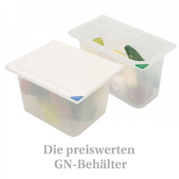 GN-Behälter - Kunststoff - mit Farbclips - stapelbar