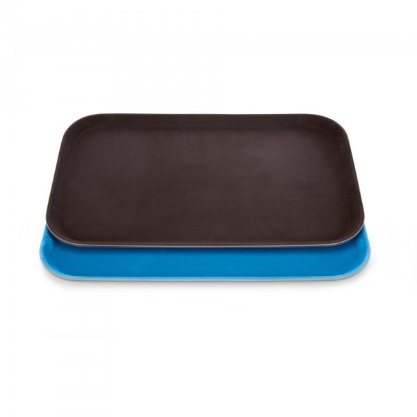 GN-Tablett - Polyester - braun oder blau - mit rutschhemmender Oberfläche