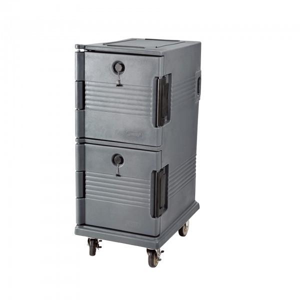 GN-Doppelthermotransportbehälter - Kunststoff - mit 4 Rollen - premium Qualität
